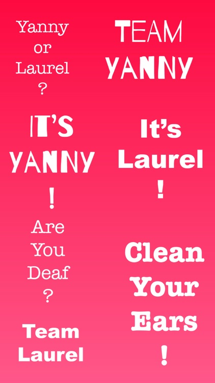 Yanny or Laurel ! Sticker App