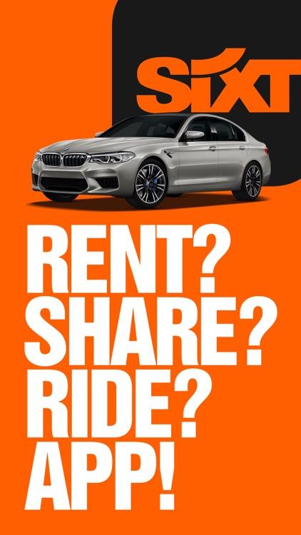 SIXT rent, share, ride & plus screenshot-0