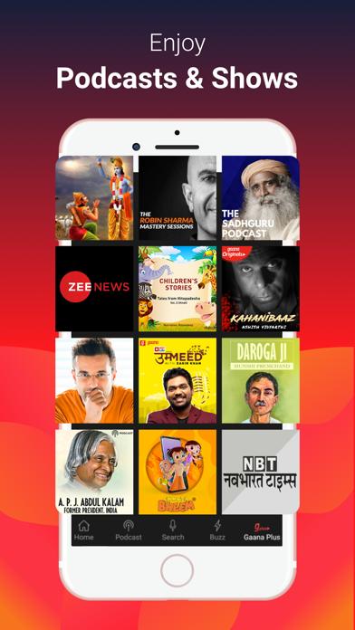 Gaana Music - Songs & Podcasts Screenshot