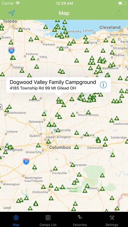 Ohio – Camping & RV spots screenshot-0
