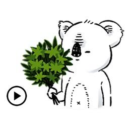 Animated Lazy Koala Stickers