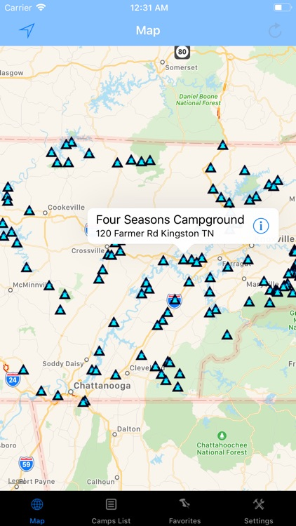 Tennessee – Camping & RV spots screenshot-0