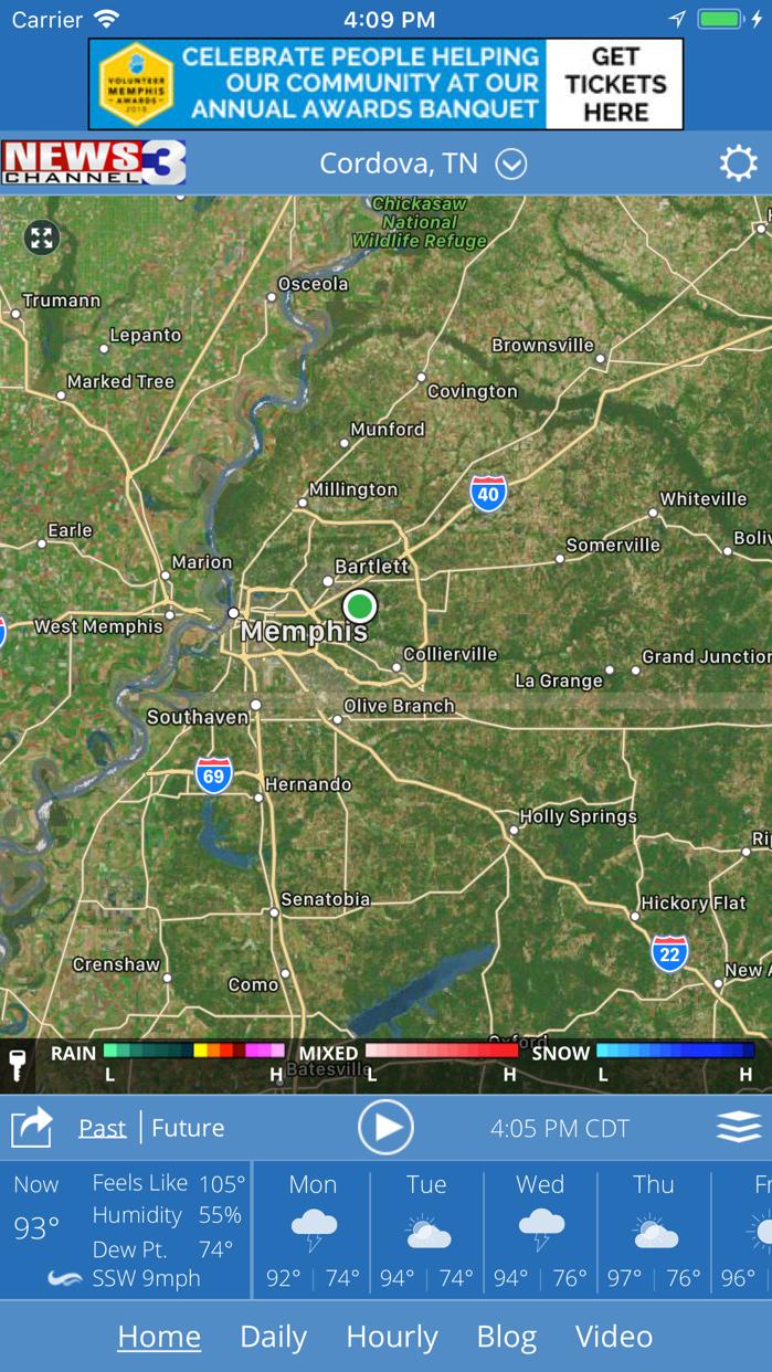 WREG Memphis Weather Screenshot