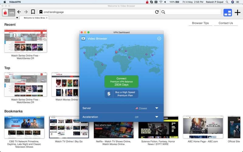 Video VPN Browser - Movies, TV for Windows