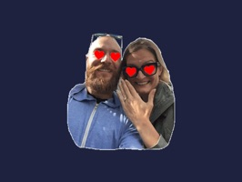 The official sticker app of Melody and Dean's wedding 2018