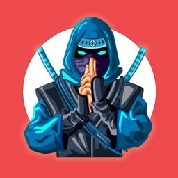 Ninja Warrior Stickers