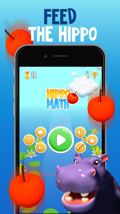 Hippo Math - AR Brain Trainer screenshot 1
