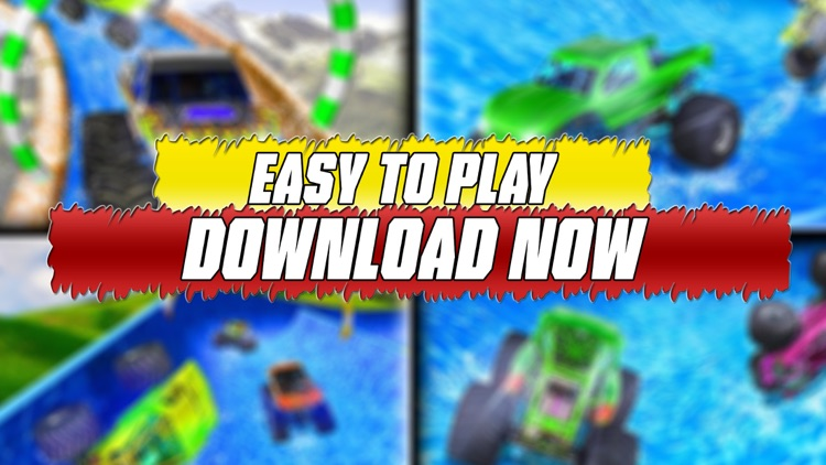water slide monster truck Race screenshot-4