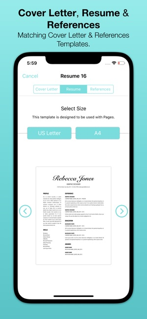 Resume templates bundle for pages on the app store iphone ipad spiritdancerdesigns Choice Image