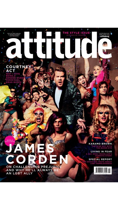 Attitude Magazine. Screenshot