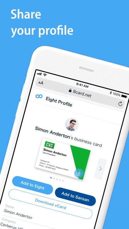 Eight: Visiting card scanner