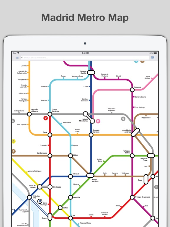 Madrid Metro Map And Routes App Price Drops