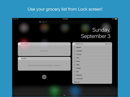 Shoppylist (Grocery List) Screenshots