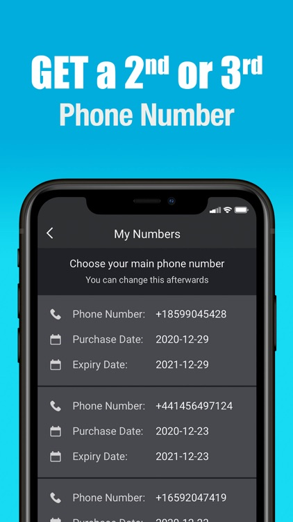Second Phone Number -