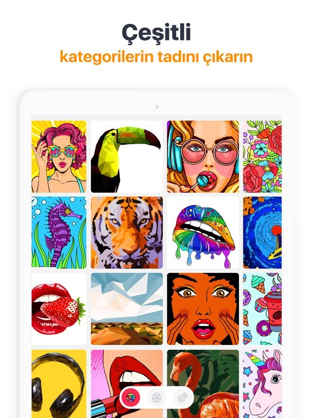 Dokun Ve Boya Boyama Kitabı App Storeda