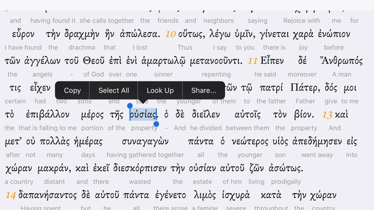 Interlinear Greek screenshot-3