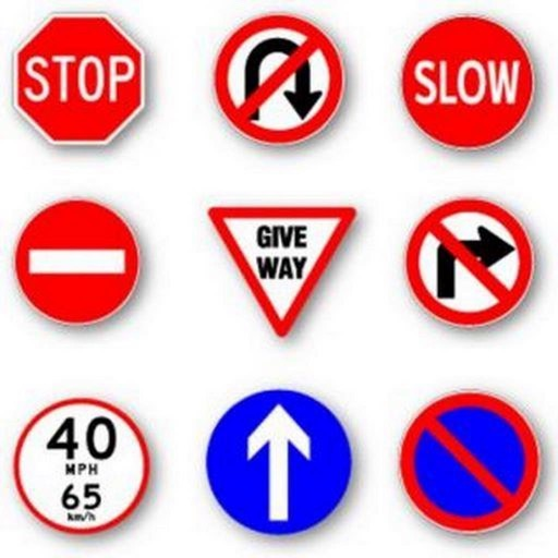 Practice Test USA & Road Signs icon