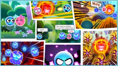 Screenshot of Balls Dash-super slime blast App