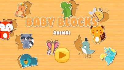 Baby Animal Shape Block Puzzle screenshot one