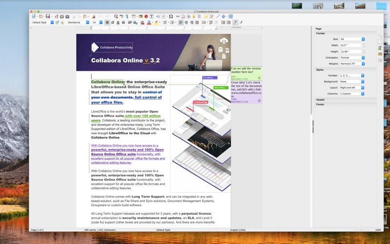 自由軟件辦公軟件 LibreOffice Vanilla for Mac