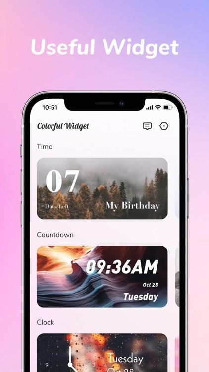 Colorful Widget: screen theme screenshot-4