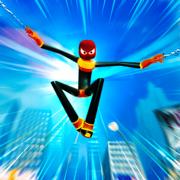火柴人 蜘蛛 绳索 英雄 3D