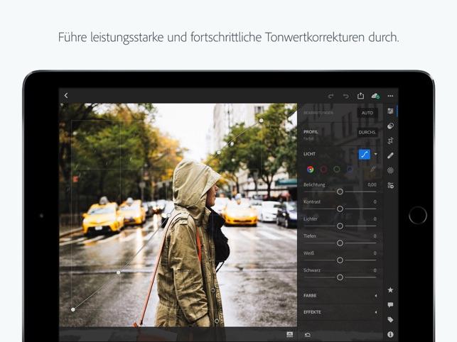 Adobe Lightroom CC for iPad Screenshot
