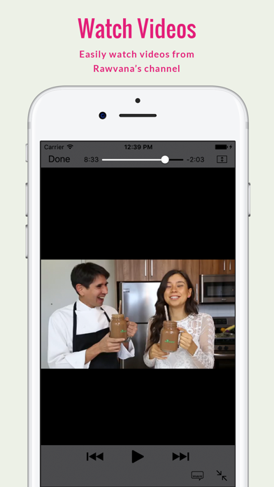 Screenshot for Rawvana's Raw Recipes in Azerbaijan App Store