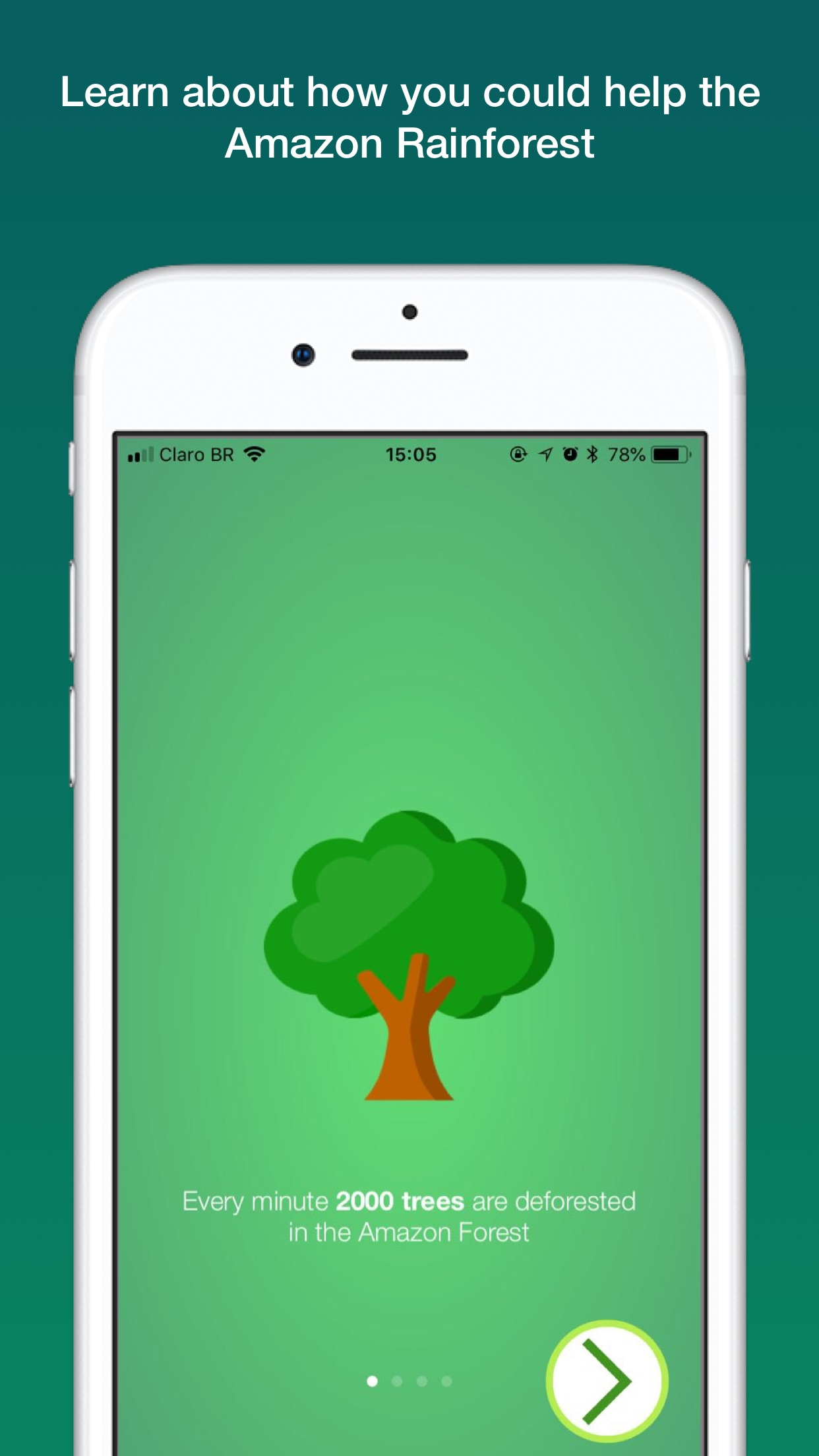 Screenshot do app Save The Trees!
