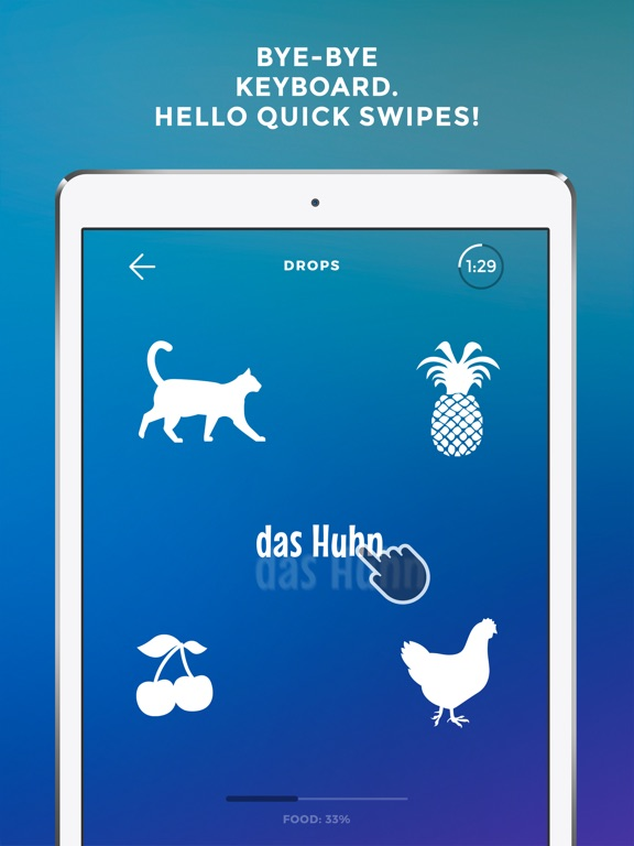 Screenshot #2 for Learn German language - Drops