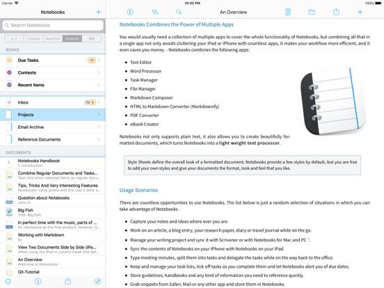 Screenshot #1 for Notebooks: Write and Organize