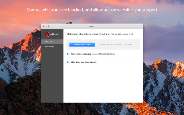 uBlock on the Mac App Store