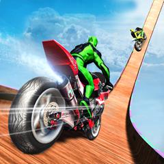 Spider Hero Motor Bike Stunt
