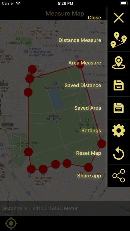 Distance & Area Measure On Map