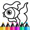 儿童游戏: 3岁-6岁小宝宝涂色画画幼儿早教