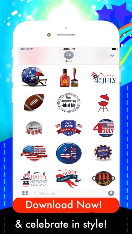 USAmoji - 4th of July Stickers screenshot-3