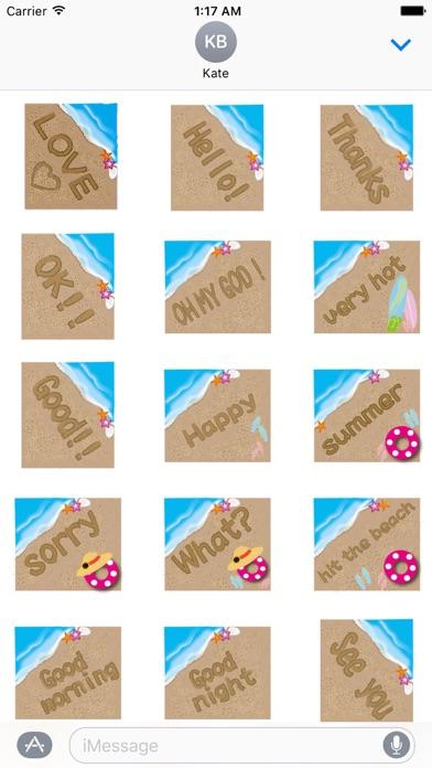 Messages On The Sand Sticker Screenshot