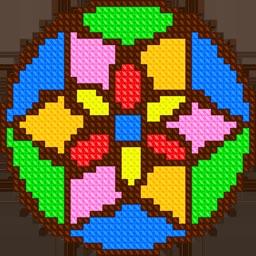 Mandala Cross Stitch Coloring