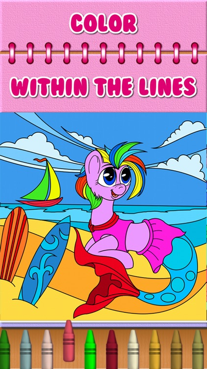 Pony Mermaid Coloring Book