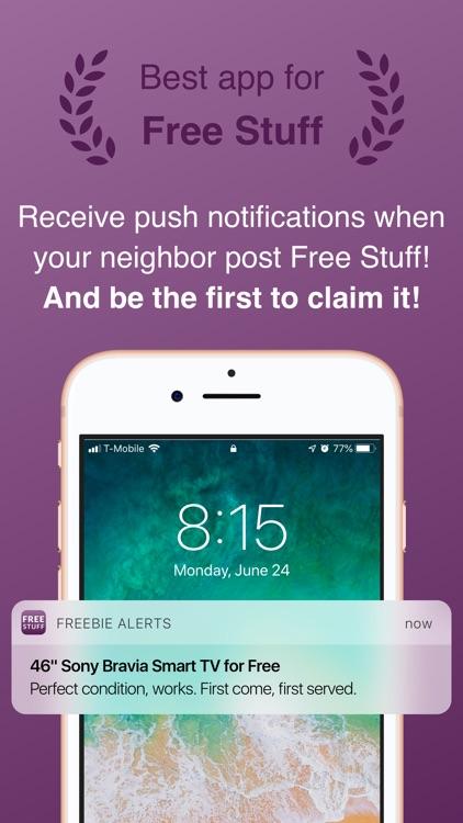 Freebie Alerts: Free Stuff App screenshot-0
