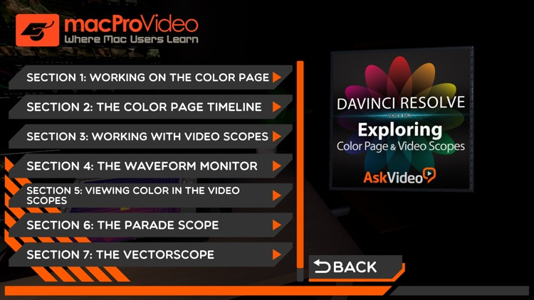 Color Page and Video Scopes
