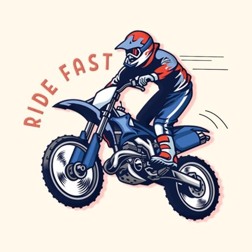 Motorbike Ride Stickers