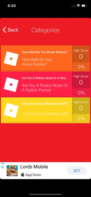 Quiz for robux on the App Store