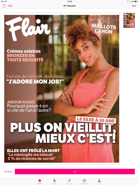 iPad Image of Flair FR Magazine