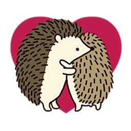 Diary Of Cute Hedgehog Sticker
