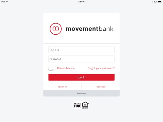 Image of Movement Bank Mobile App for iPad