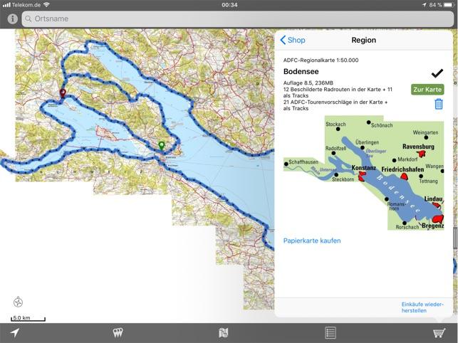 Ostseeradweg Karte.Adfc Karten Im App Store