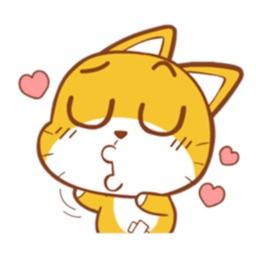 Tigger Cat Sticker