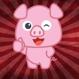 Funny Pig Fall