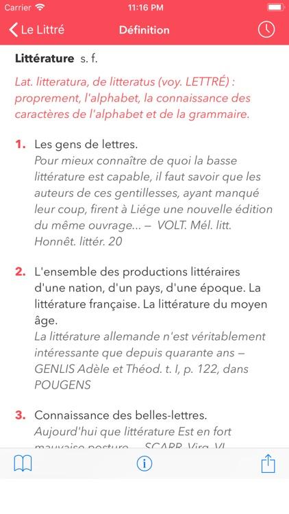 French Dictionary Le Littré